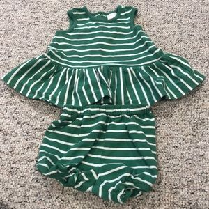 Infant 6-12 mo- summer ruffle outfit